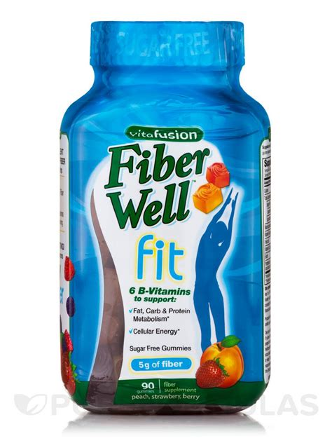 Vitafusion Fiber Well Fit Gummies 90 Count fiber well fit assorted flavors 90 gummies