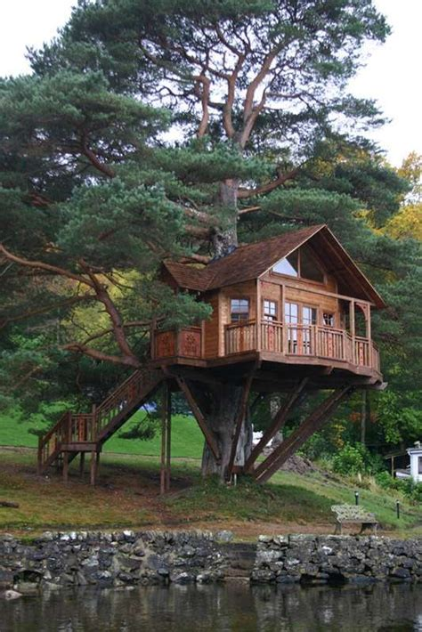 Coolest Treehouse In The World have you ever heard of a three storey tree house this one is not