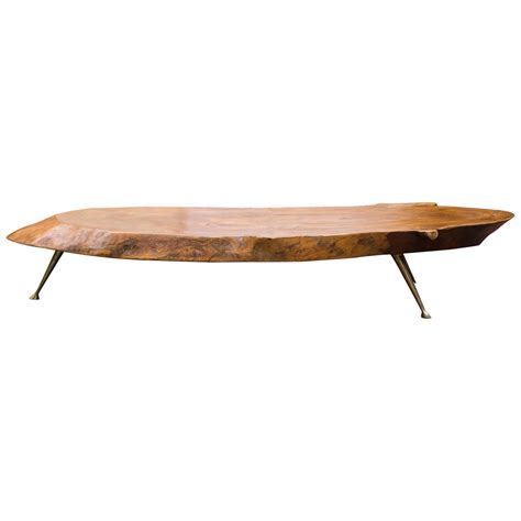 Stump Coffee Table Tree Trunk Coffee Table Nakashima Style At 1stdibs