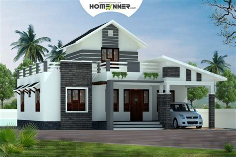 Home Design On A Budget Surrey low cost kerala home design 1379 sq ft 2 bhk house plan