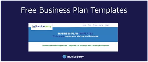 Free Business Plan Templates Invoiceberry Blog Sole Trader Business Plan Template