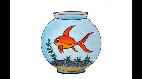 Fish Tank Drawing Easy