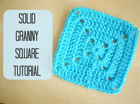 crochet how to crochet a solid granny square for begin
