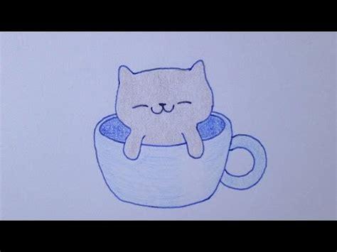 imagenes kawaii para dibujar dificiles c 243 mo dibujar un gatito kawaii en una taza