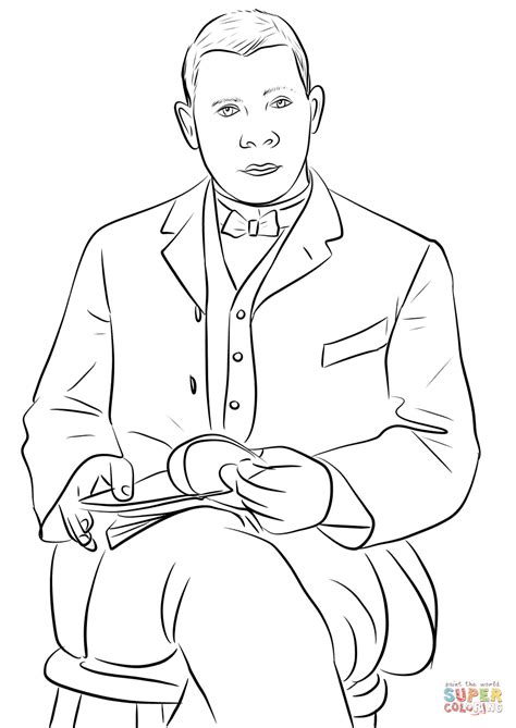 coloring pages booker t washington booker t washington coloring page free printable
