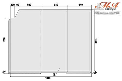 matratze 3 teilig komfortmatratze matratze 3 teilig vw t4 multivan grau