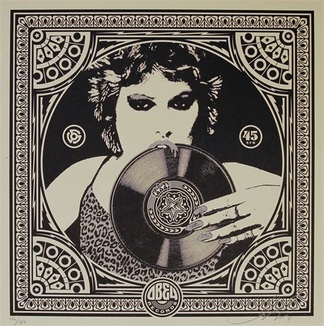 obey punk girl album cover print