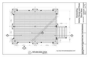 deck plan 10 12 x 16 deck plan blueprint with pdf document
