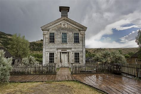 best old school house music old school house after storm bannack montana by daniel hagerman