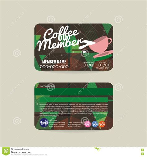 coffee club card template front and back coffee voucher of member card template