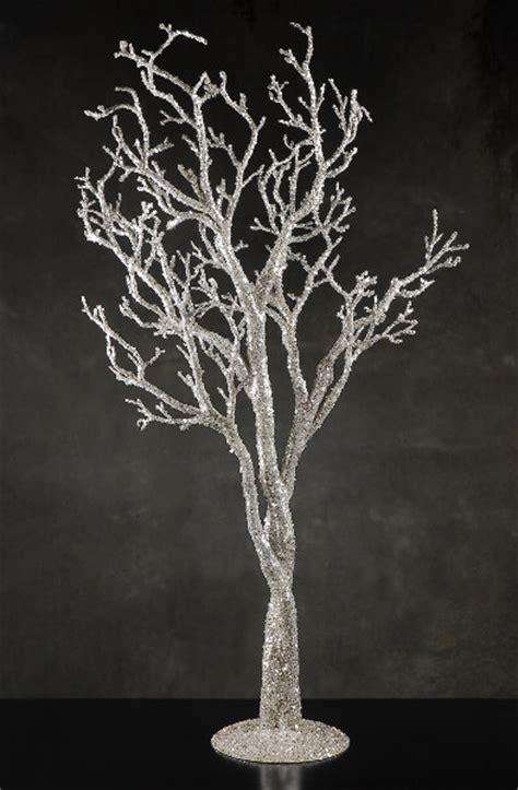 Silver Tree Decor by Silver Glitter 38 Quot Potted Manzanita Tree Event Decor