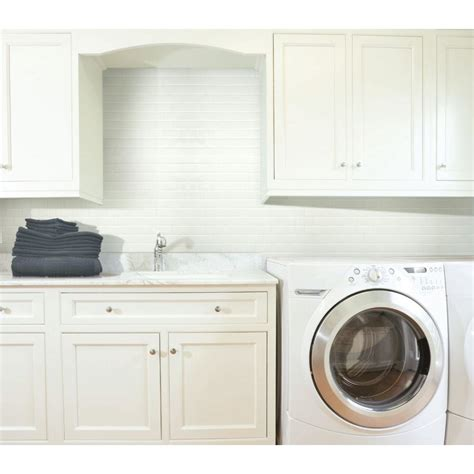 Smart Tiles Subway White 10 95 In W X 9 70 In H Peel And Peel And Stick Subway Tile Backsplash