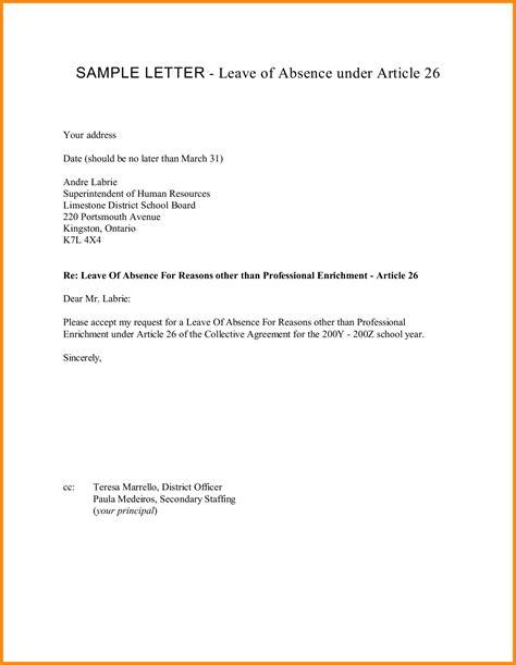 application letter leave of absence 8 application for leave of absence model resumed