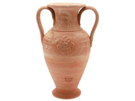 antico vaso a due anse anfora stella 061 vaso in terracotta