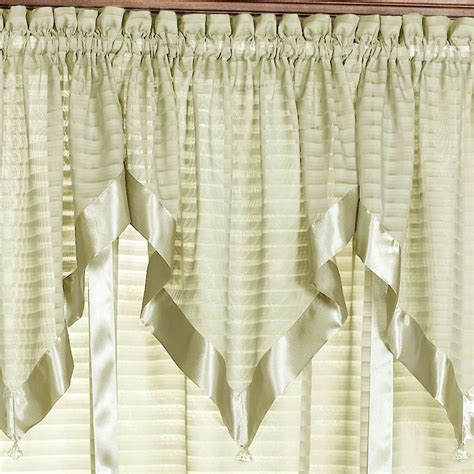 Ascot Valance Nimbus Stripe Ascot Valances And Window Treatments