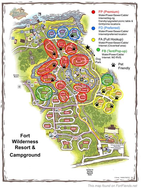 Disney Fort Wilderness Cabins Map by Disney Fort Wilderness Cground Map Book Covers