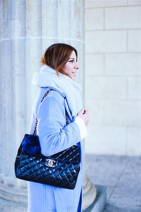 Gloria Jumbo Blouse Light Blue fashion week 2 light blue coat black culotte and