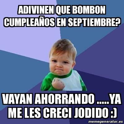 imagenes de cumpleaños en septiembre meme bebe exitoso adivinen que bombon cumplea 241 os en