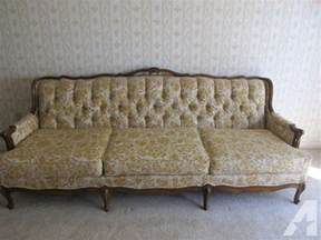 used provincial sofa and matching chair for sale in