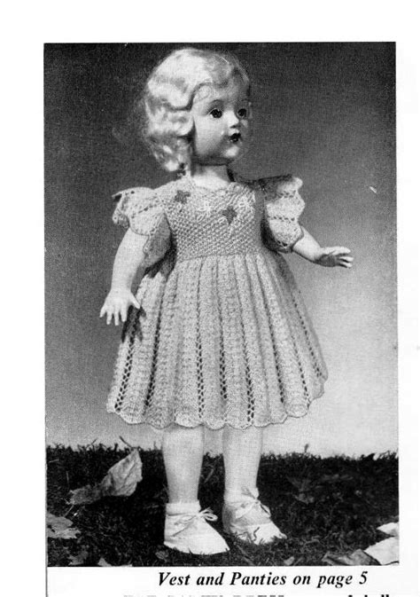 18 inch doll clothes knitting patterns pdf vintage knitting pattern to make dolls clothes for an