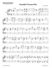 Beautiful Trauma-Pink Free Piano Sheet Music & Piano Chords