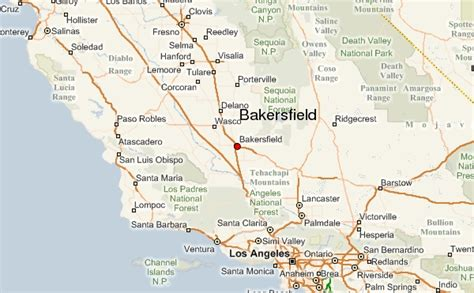 bakersfield california us map bakersfield california map