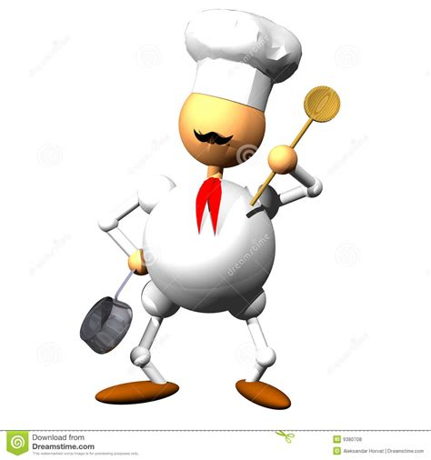 clipart cuoco chef clipart stock abbildung illustration stehen