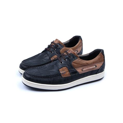 rubber sole sports shoes mens navy leather non slip rubber sole sports fashion