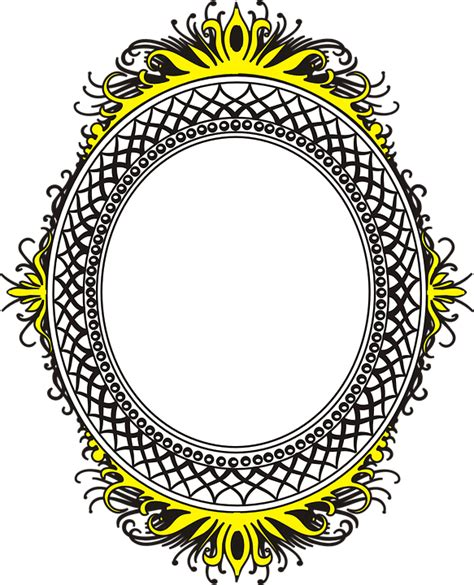 mirror frame border 183 free vector graphic on pixabay