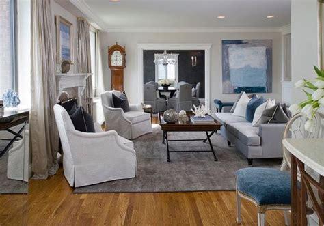 idée decoration salon gris blanc et bleu   Deco Maison Moderne