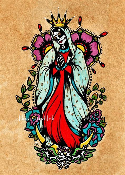 tattoo old school los angeles day of the dead virgen de guadalupe old school tattoo art
