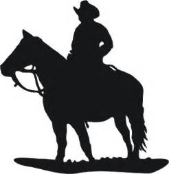 Cowboy and horse silhouette vinyl window decal 6x6