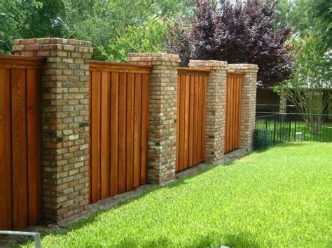 j t home design reviews residential decorative wood and brick fence yelp