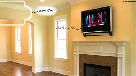 Pop Up Tv That Hides In The Fireplace by 180 Degree Flip Around Tv Mount Mounted Above