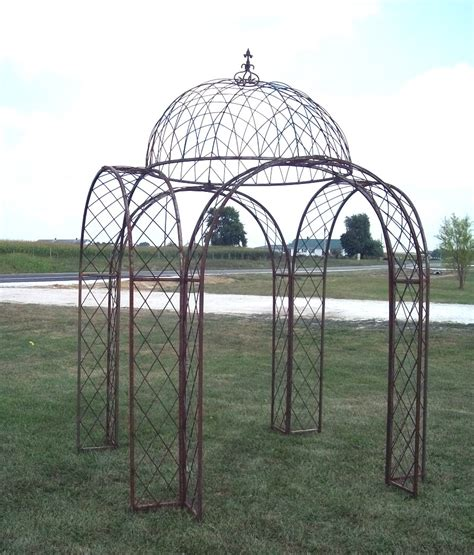 4 Arches Wrought Iron Gazebo Metal Trellis Structure From Metal Garden Arches And Pergolas