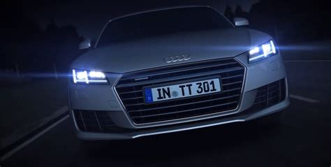 audi matrix headlights audi tt matrix led headlights detailed in new promo