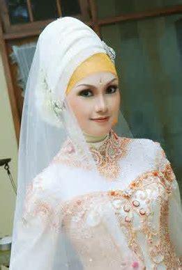 Gambar Jilbab Pengantin contoh foto modern untuk akad nikah terbaik