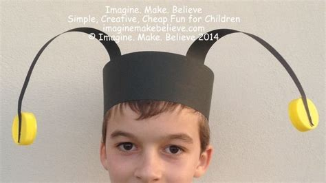 How To Make Paper Costumes - easy insect antennae headband make paper costumes and