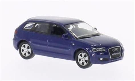 Audi A3 Sportback Modellauto by Audi A3 Sportback Blau Welly Modellauto 1 87 Kaufen