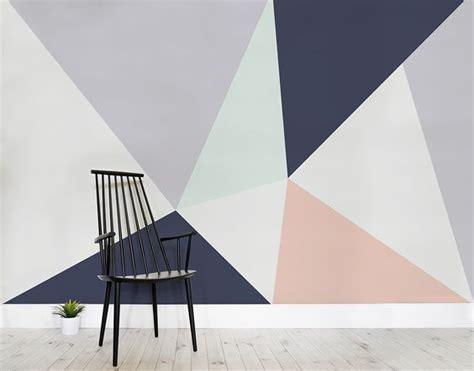 scandi style feature walls and geometric wallpaper on pinterest