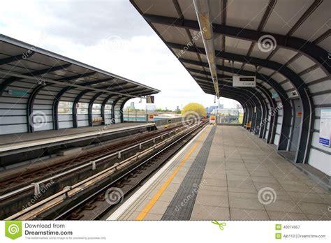 Thames Barrier Dlr Station | docklands light railway station stock photo image 40074957