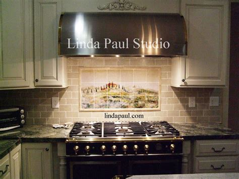 pictures of kitchen tile backsplash tuscan tile murals kitchen backsplashes tuscany art tiles