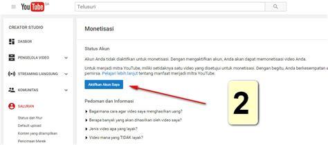 cara daftar google adsense indo melalui akun youtube cara mudah daftar google adsense melalui youtube 2018