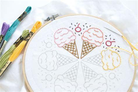 ice cream cone mandala  embroidery pattern