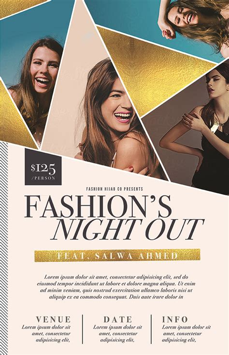 design event flyer gala event flyer template psd featuring a geometric design