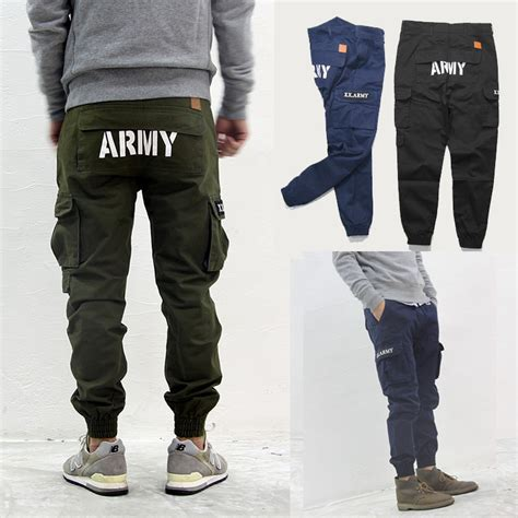 Celana Jogger Cargo Black Sweatpants Chino us army style fashion jogger casual joggers slim cargo streetwear for