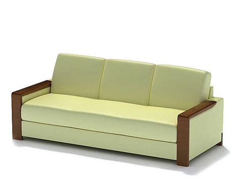 leather sofa yellow light yellow leather 3d model cgtrader