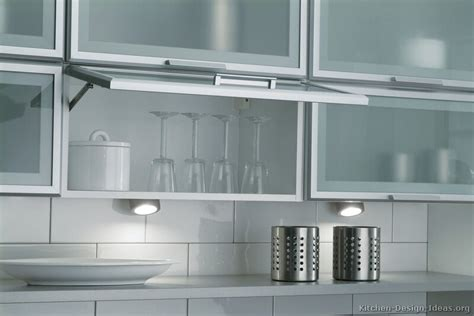 White Glass Kitchen Cabinet Doors Modern White Kitchen Cabinets With Glass Doors My Kitchen Interior Mykitcheninterior