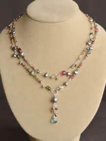 Handmade Designer Necklaces - wildflower tourmaline lariat wire l wren