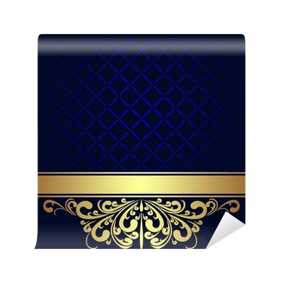 navy blue background decorated the golden royal border royalty free navy blue background decorated the golden royal border